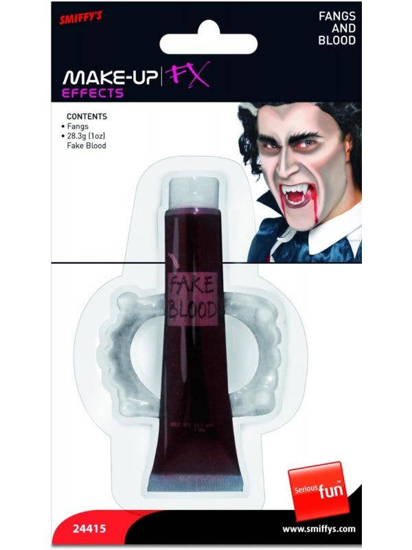 Fake Blood and Fangs Make Up Effects Kit Main Image