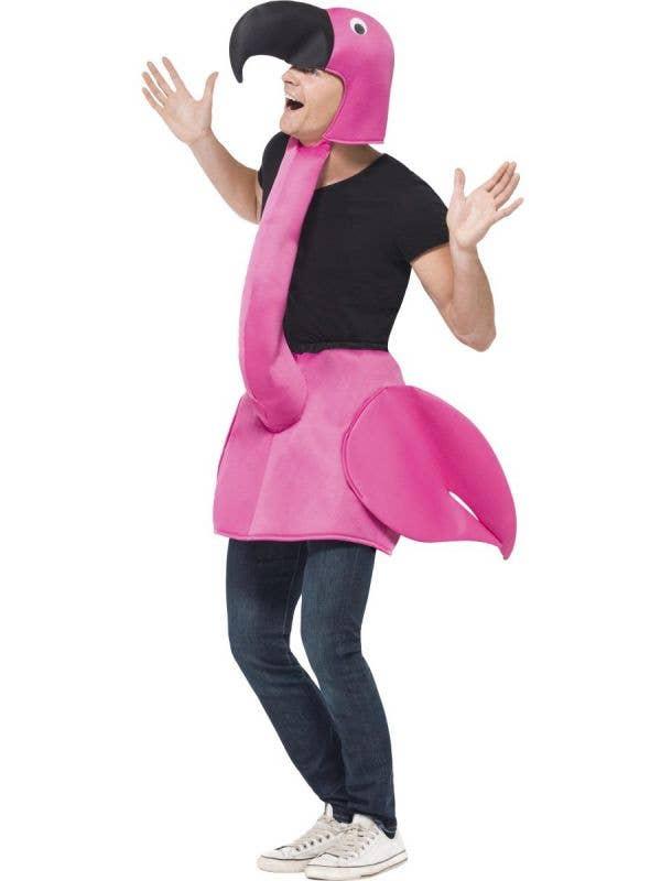 Men's Pink Flamingo Novelty Fancy Dress Costume Front View
