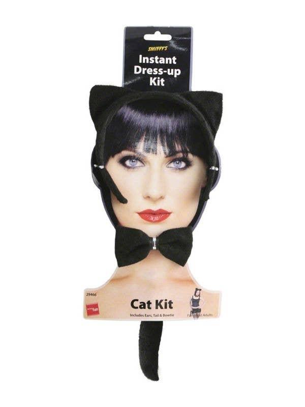 Ears + Tail Fancy Dress Cat Set Black Accessory