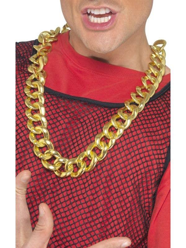 Large Chunky Hip Hop Bling Costume Necklace - Main Image