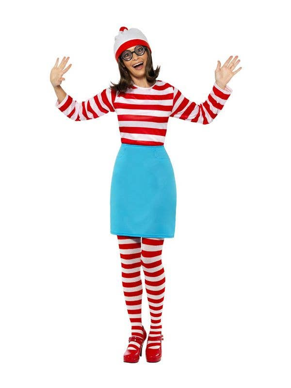 Women's Wenda Where's Wally Costume for Adults - Main Image