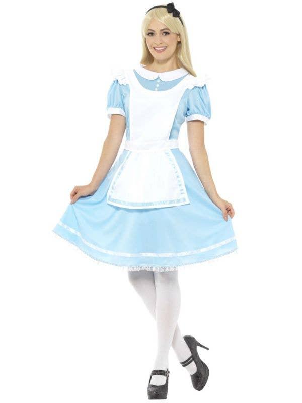 Women's Wonder Princess Alice in Wonderland Fairytale Costume Front Image