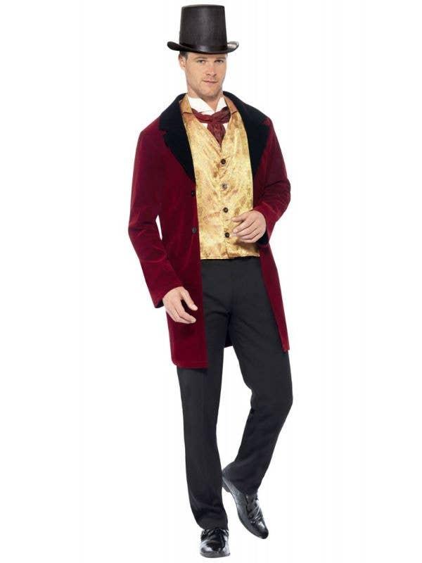 Men's Deluxe Edwardian Gentleman Fancy Dress Costume Front Image