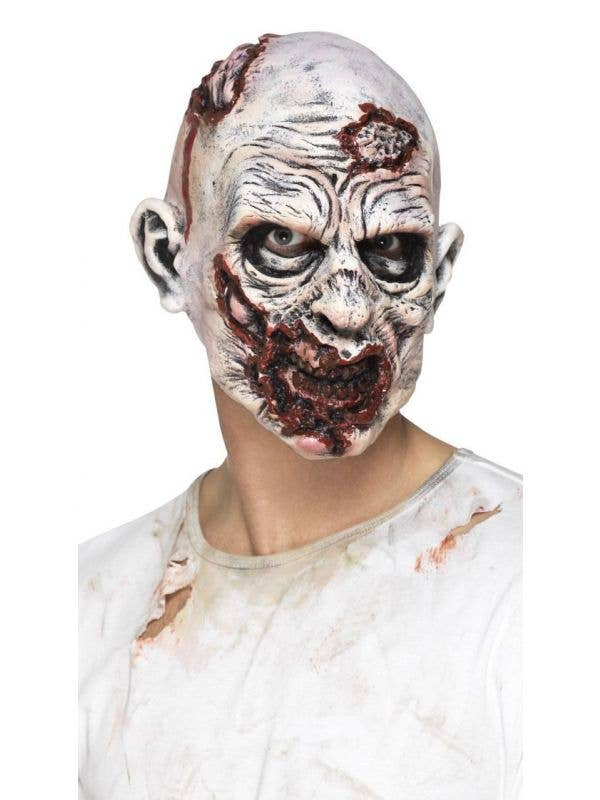 Snarling Grey Zombie Undead Foam Latex Mask Main Image