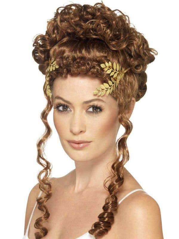 Gold Laurel Wreath Metal Headpiece Costume Accessory