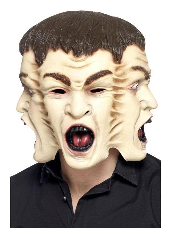 Creepy 3 Face Halloween Latex Mask