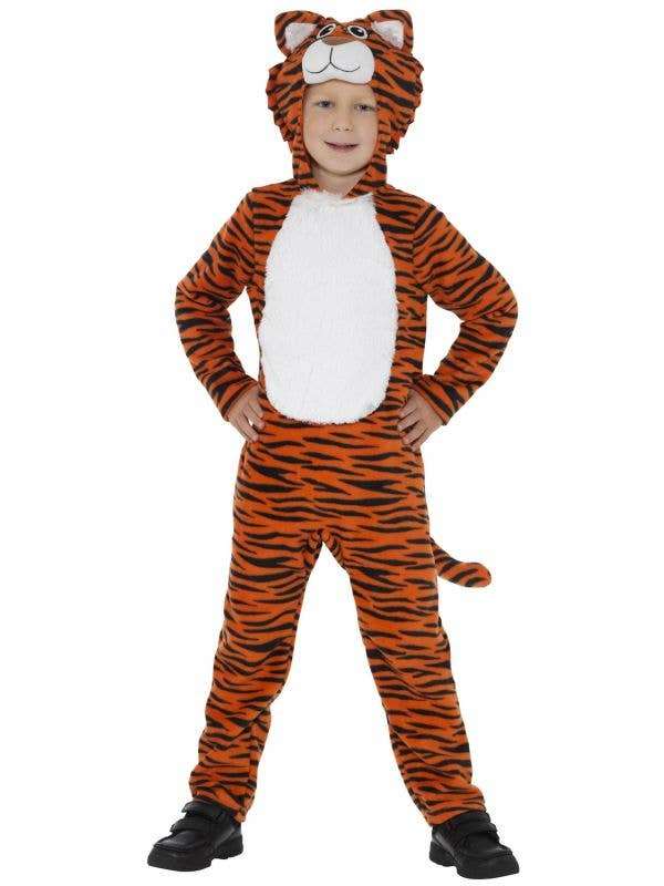 Kid's Tiger Safari Animal Onesie Book Week Costume Front