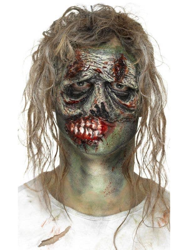 Green Foam Latex Zombie Eye Prosthetic Halloween Makeup Main Image