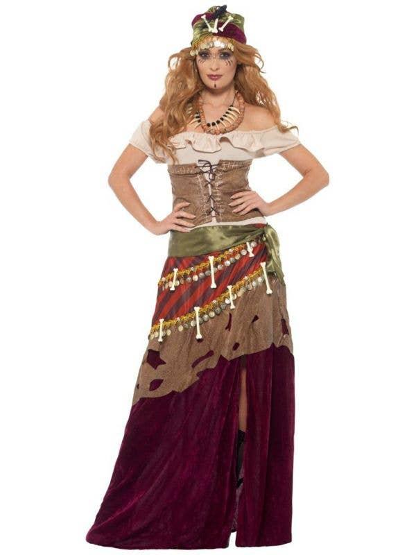 Deluxe Voodoo Priestess Fortune Teller Halloween Costume - Main