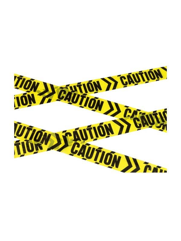Yellow Chevron Caution Tape Halloween Haunted House Decoration
