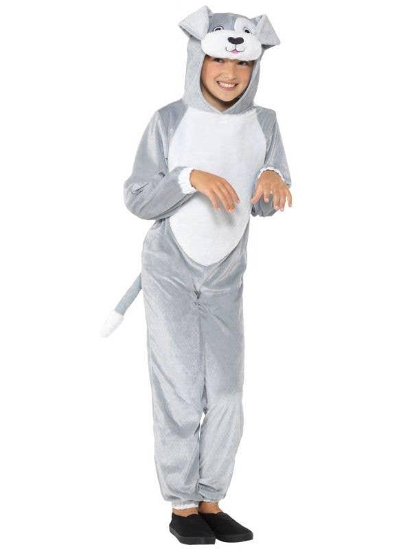 Kids Dog Jumpsuit Fancy Dress Onesie Costume Front Image