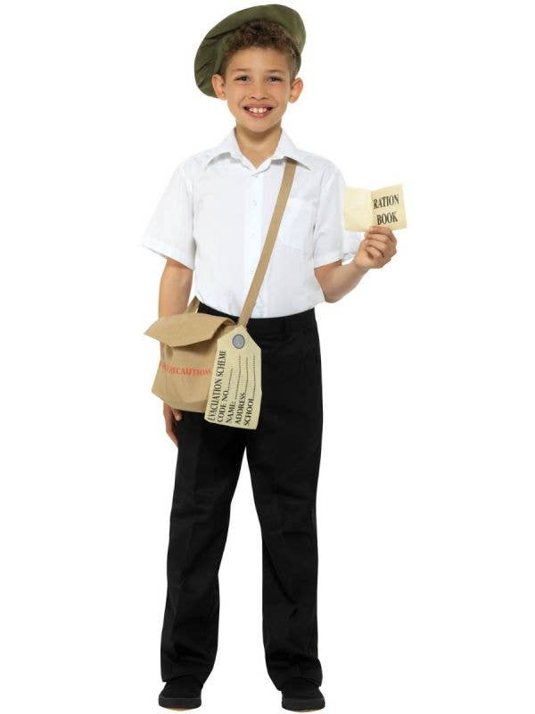 Kids Wartime Evacuee Costume Accessory Kit Main Image