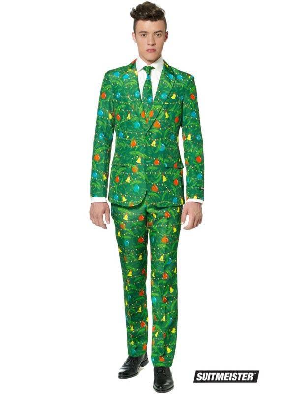 Green Christmas Tree Men's Suitmeister Festive Suit Main Image