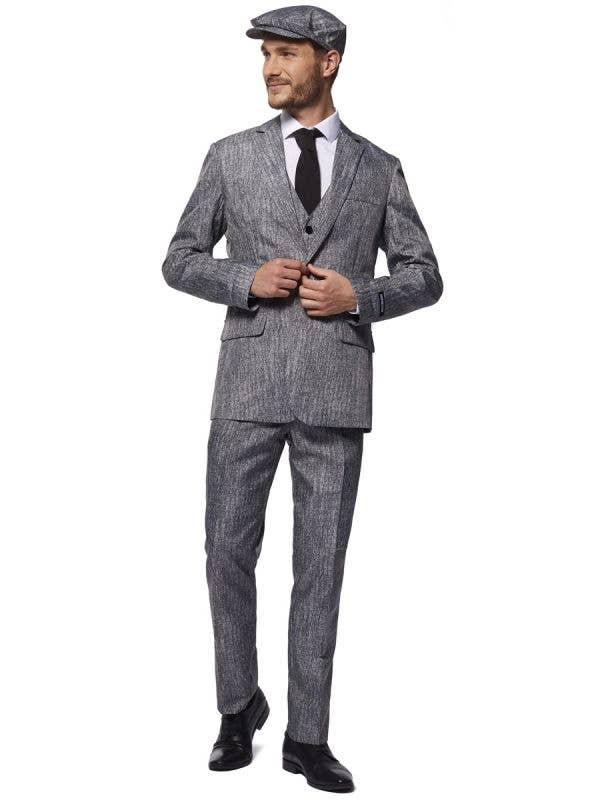 Peaky Blinders Men's Grey Gangster Suit - Front Image
