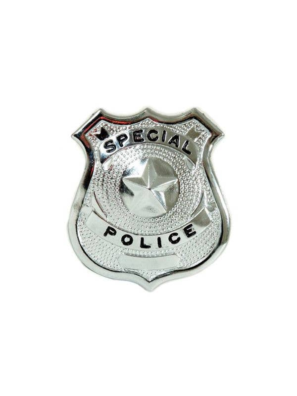 Silver Metal Special Police Officer Badge Costume Accessory
