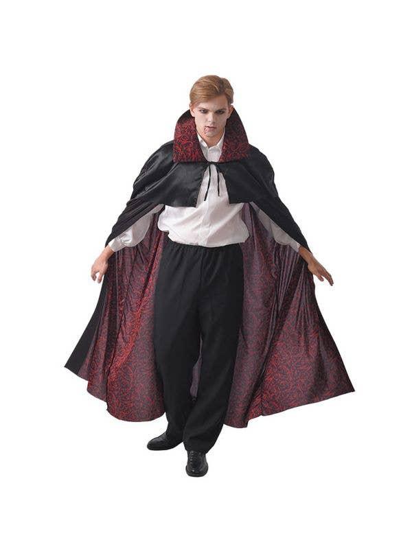 Men's Black and Red Vampire Halloween Costume Cape