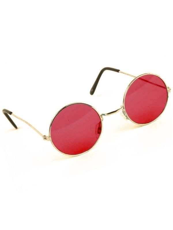 Round Red John Lennon Teashade Hippie Sunglasses