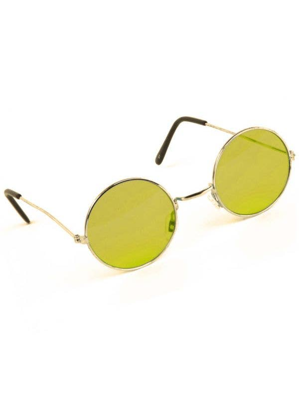 Round Yellow John Lennon Teashade Hippie Sunglasses