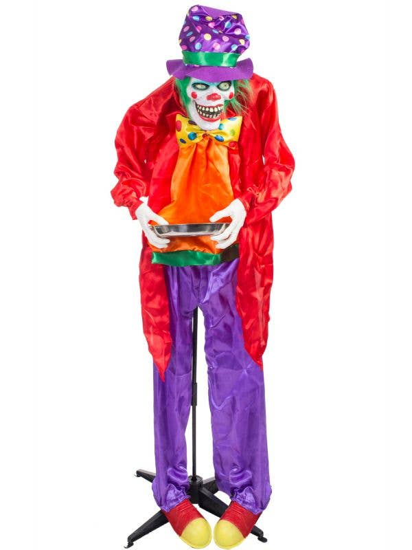 Standing Animated Clown Halloween Decoration with Lights and Sounds