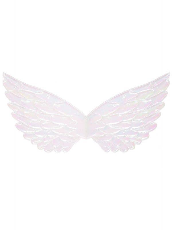 Mini Metallic Iridescent Pink Angel Costume Wings