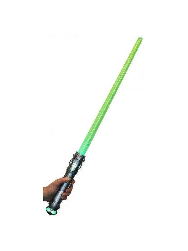 Light Up Long Green Lightsaber Star Wars Costume Accessory with Noises