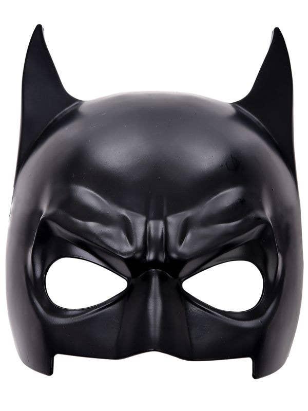 Black Plastic Batman Style Costume Mask