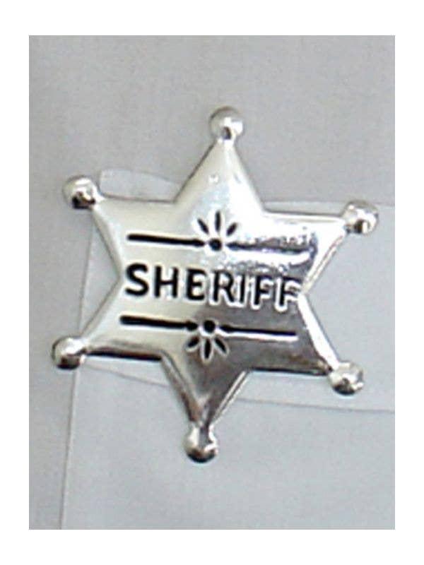 COWBOY FANCY DRESS ACCESSORY SHERIFF BADGE METAL