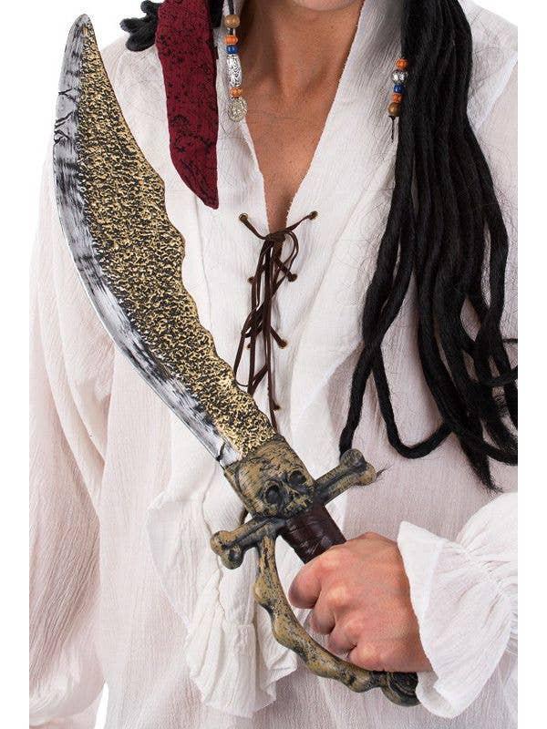 Bladed Skull Sword Ninja Toy Plastic Costume Accessory