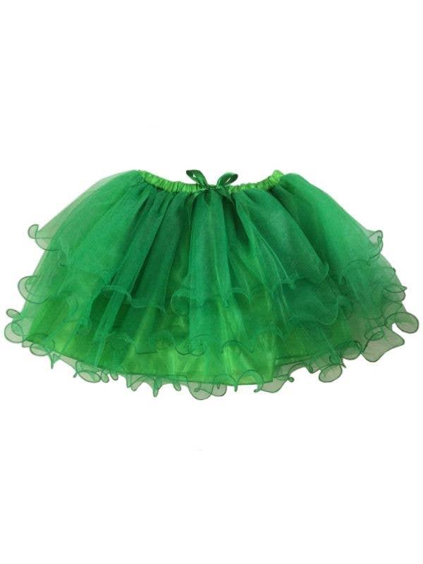 Fluffy Bright Green Layered Mesh Women's Costume Tutu Skirt