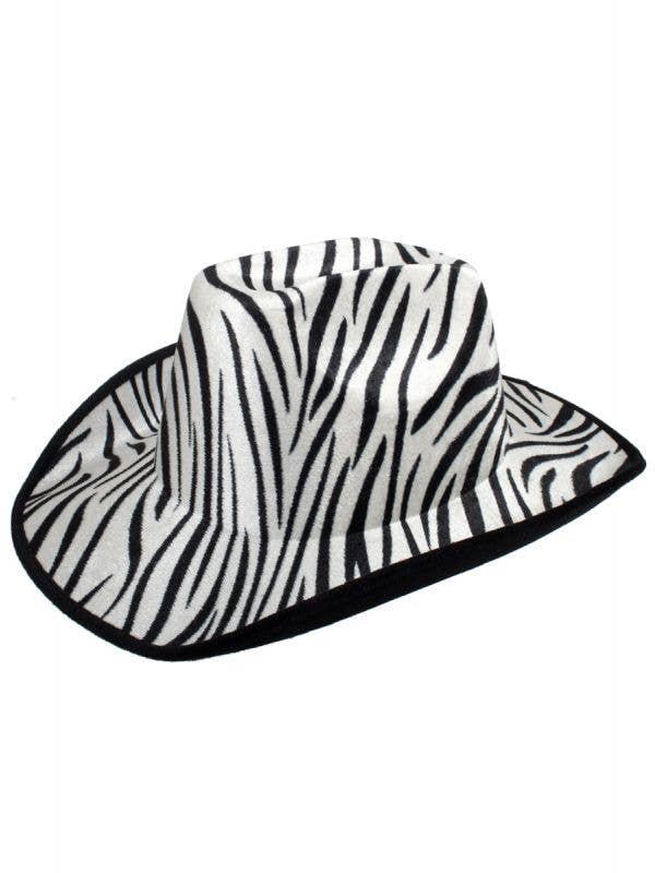 Black and White Zebra Print Cowboy Hat