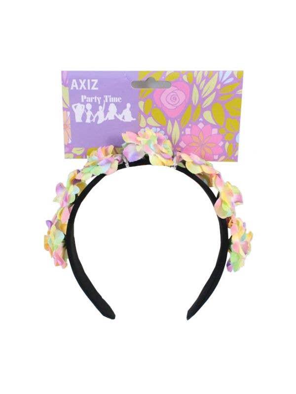 Rainbow Flower Headband Costume Accessory