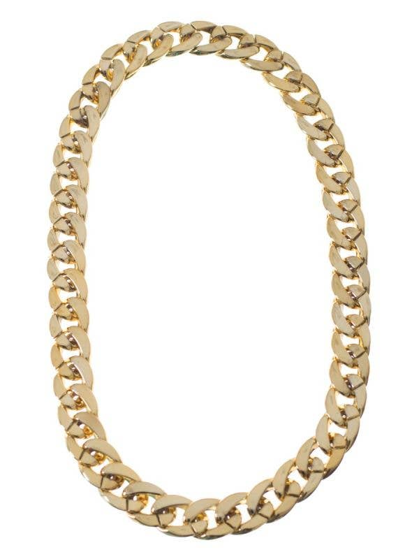 Men's Thick Gold Chunky Chain Gangster Pimp Hip Hip Rapper Costume Necklace Jewellery Accessory Main Image