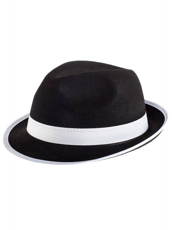 Black and White Gangster Fedora Hat