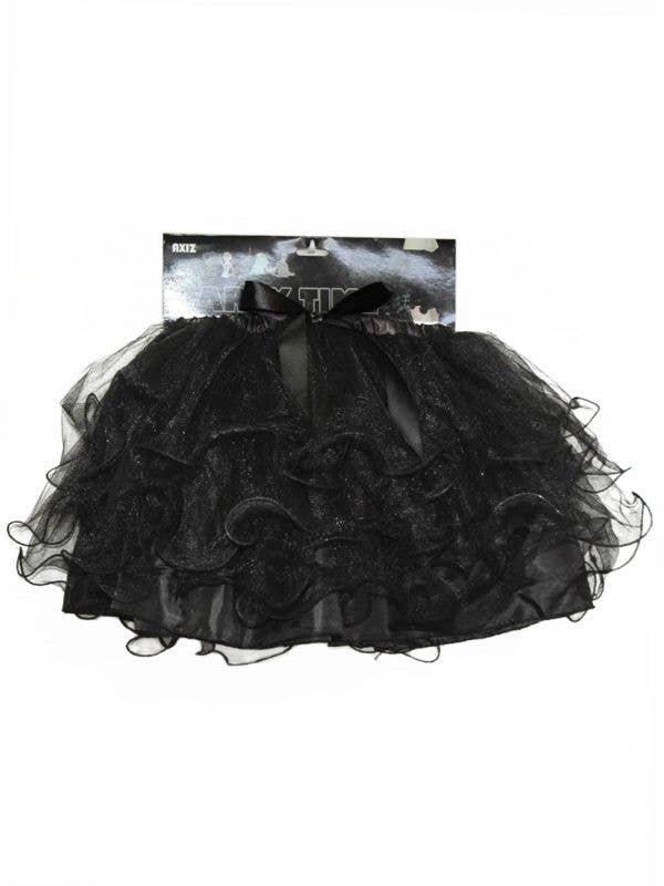 Women's 1980's Black Layered Costume Petticoat