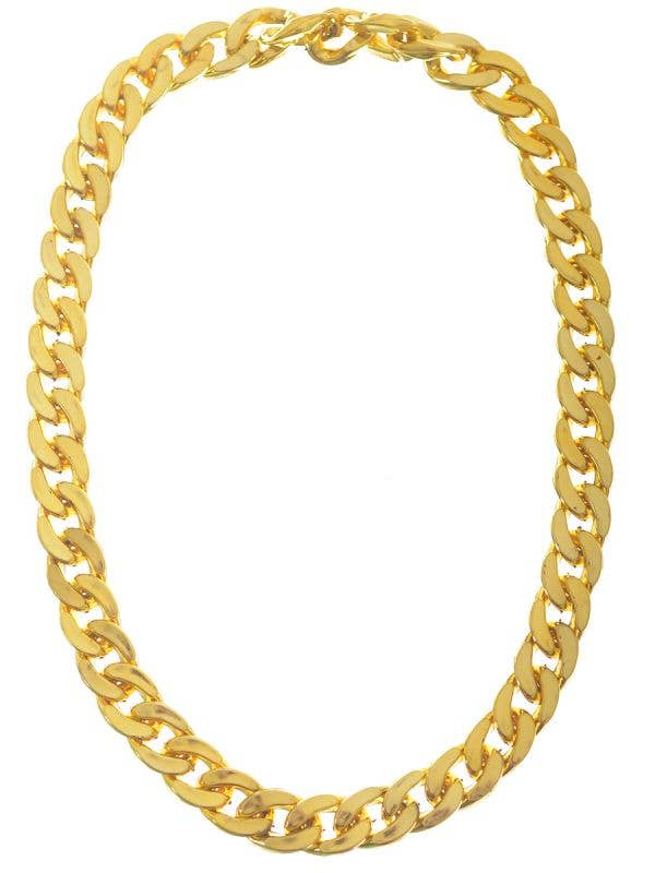 Large Gold Plastic Chunky Costume Necklace