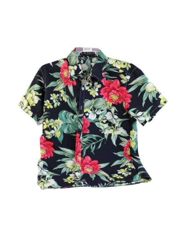 Men's Floral Print Tropical Island Getaway Costume Shirt Main Image