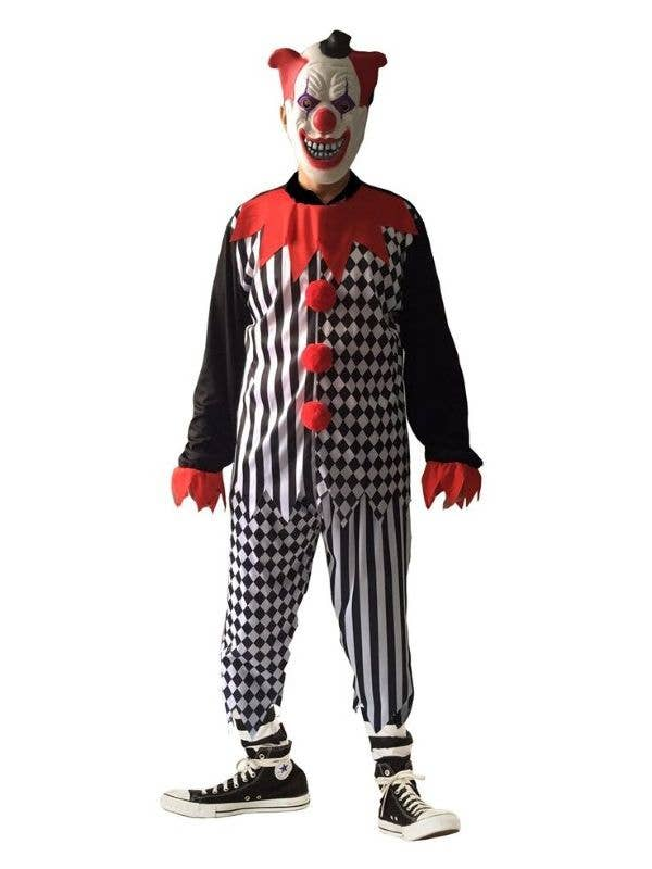 Sinister Clown Piggy Back Ride On Halloween Adults Mens Fancy Dress Costume