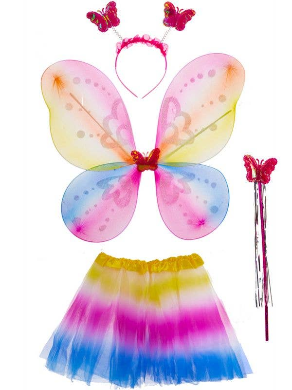 Girls Rainbow Fairy Accessory Set - Main Image