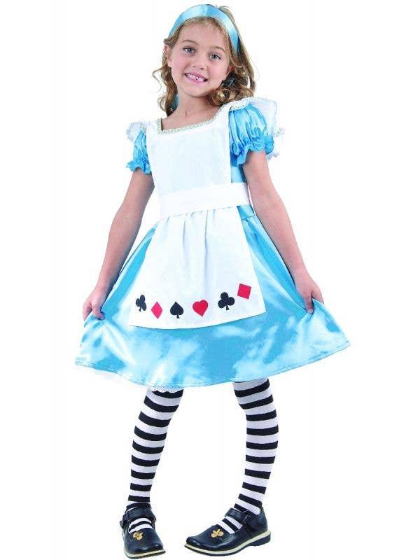 Satin Girls Alice in Wonderland Dress Up Costume Main Image