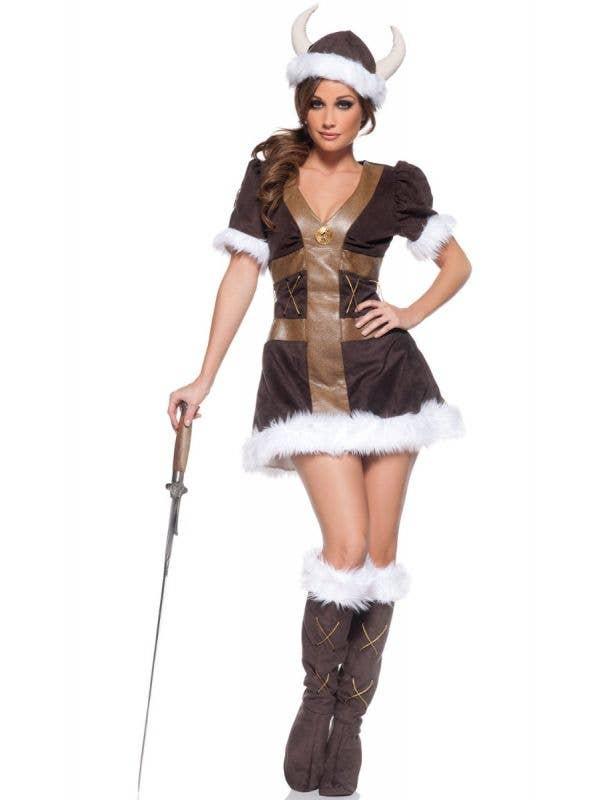 Womens Sexy Viking Princess Costume - Main Image