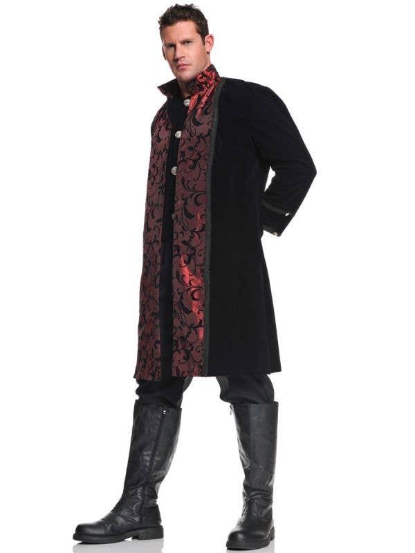 Men's Vampire Costume with Coat, Vest and Pants