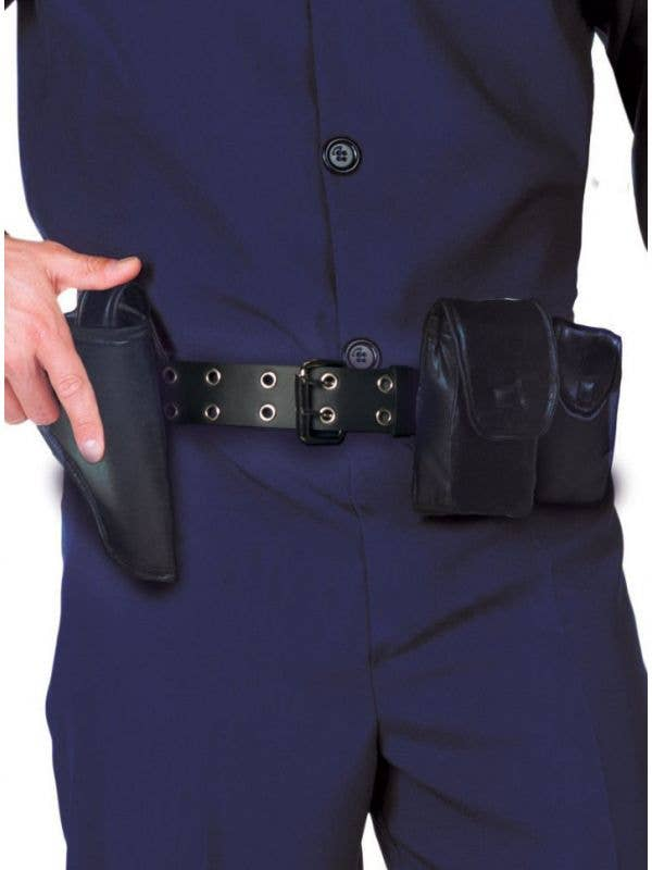 Adult's Black Police Officer Utility Belt Costume Accessory Main Image