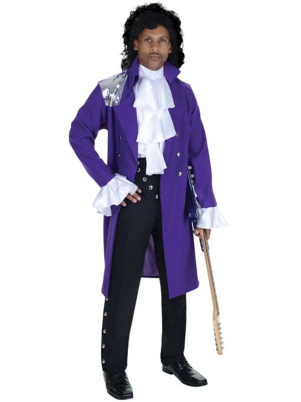 Men's Purple Rain Plus Size Prince 80s Costume - Main Image