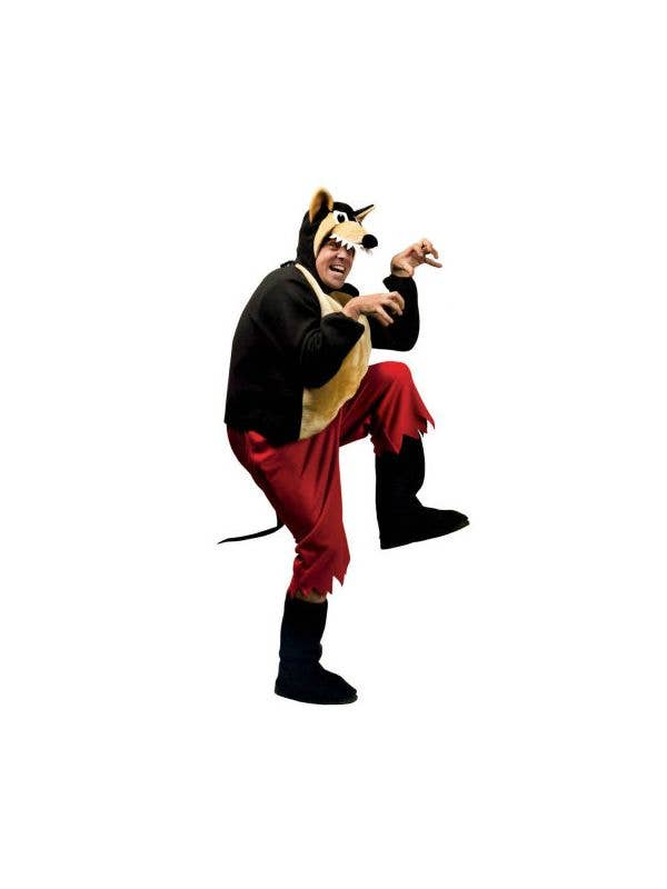 Furry Animal Costume  Brown Big Bad Wolf Fancy Party Dress Costume