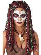 Women's Tribal Voodoo Priestess Halloween Costume Wig