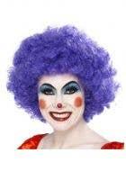 Clown Purple Afro Women's Costume Wig