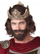 Medieval King Men's Wig, Beard and Moustache Set