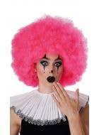 Jumbo Hot Pink Afro Clown Costume Wig