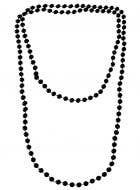 Black Flapper Beads Necklace 1920s Costume Accessory