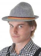 Grey Feltex Bavarian Oktoberfest Costume Hat For Adult's